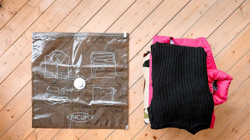 Pacum Vacuum Sealed Travel Bags for Clothes