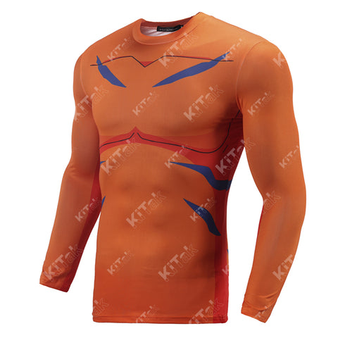 Greymon Cosplay Training Compression Long Sleeves for Men Fitness