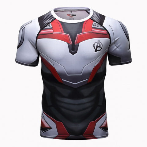 Quantum Realm Cosplay Training Compression T-Shirts for Men Fitness 01