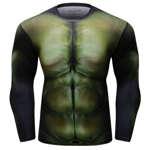 Hulk Workout Compression Long Sleeves for Men 1