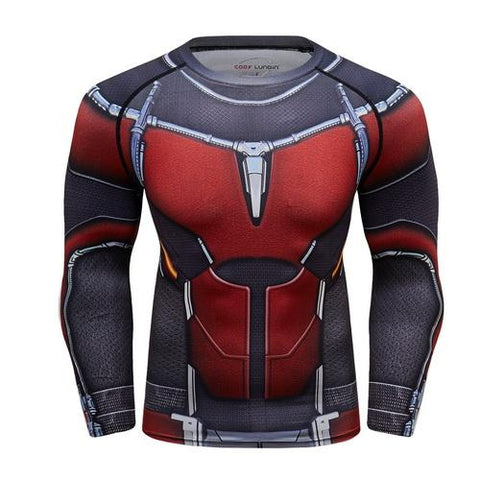 Anti-Man Cosplay Training Compression Long Sleeves for Men Fitness 01 - Cosplay Fitness | KiTak