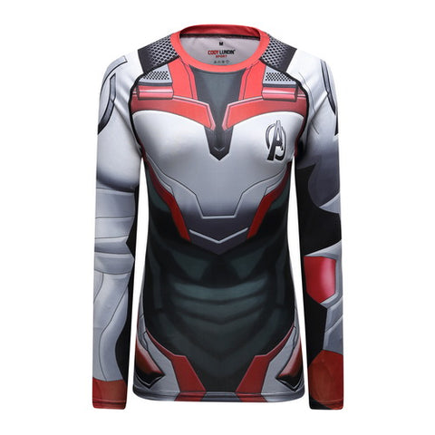 Quantum Realm Cosplay Training Compression Long Sleeves for Women Fitness