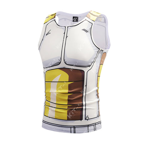 Vegeta Cell Workout Compression Tank Tops for Men
