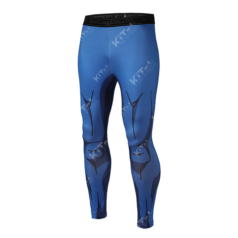 Vegeta Cosplay Training Compression Leggings for Men Fitness