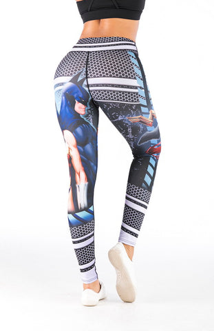 Justice League Cosplay Training Compression Leggings for Women Fitness
