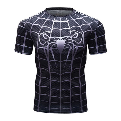 Spider-man Workout Compresson T Shirts for Men 3