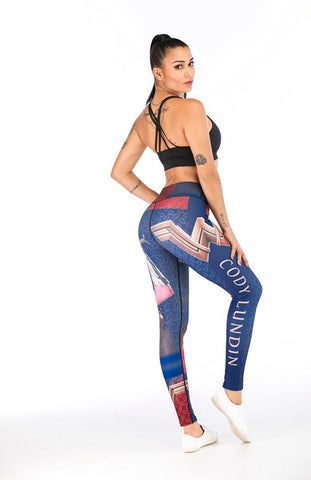 Wonder Woman Cosplay Training Compression Leggings for Women Fitness 3