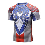 Spider-Man Cosplay Training Compression T-Shirts for Men Fitness 03