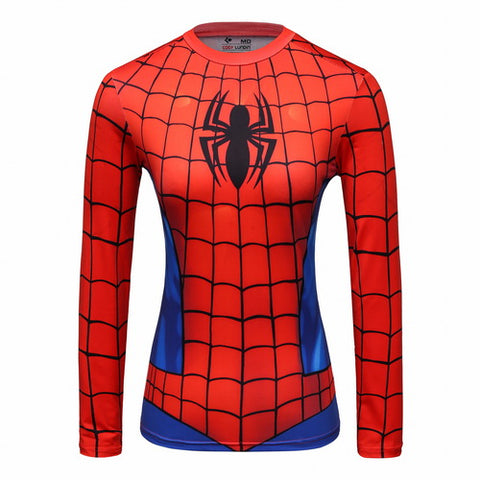 Spider-Man Workout Compression Long Sleeves for Women(2007 Spider-Man 3)