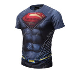 Superman Workout Compression T Shirts