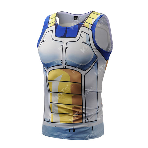Vegeta Workout Compression Tank Tops for Men