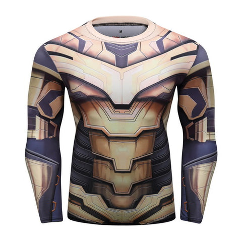 Thanos Full Gears Cosplay Training Compression Long Sleeves for Men Fitness(2019 Avengers Endgame) 1