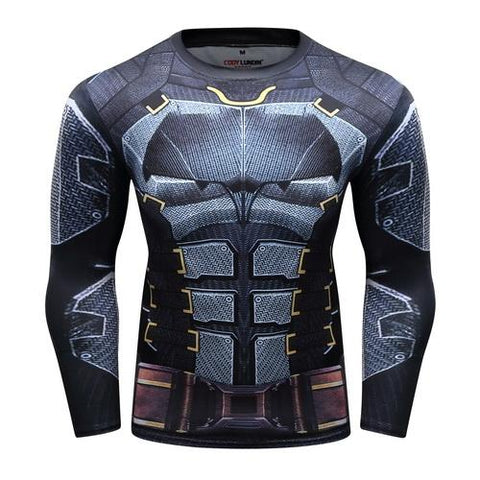 Batman Workout Compression Long Sleeves for Men 3