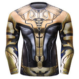 Hero Training Thanos Full Gears Costume Workout Compression Long Sleeves for Men (2019 Avengers Endgame) 2