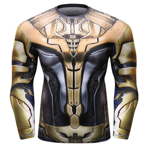 Thanos Full Gears Cosplay Training Compression Long Sleeves for Men Fitness(2019 Avengers Endgame) 2