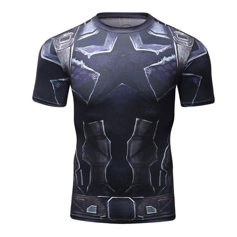 Captain America Workout Compresson T Shirts for Men 7
