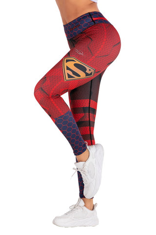 Supergirl Workout Compression Leggings for Women 1