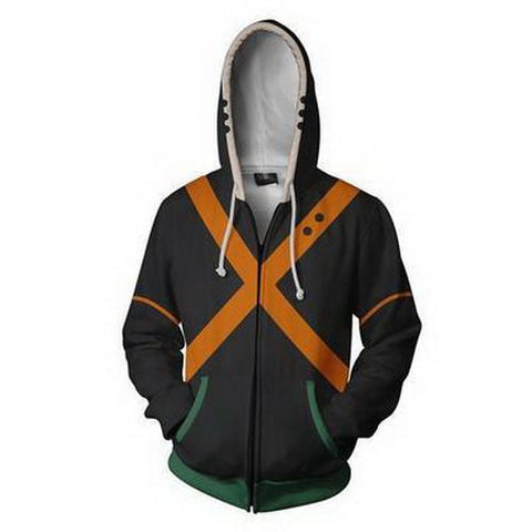 Bakugou Training Warm Up Full Zip Hoodies 1 - Unisex Fitness - Cosplay Fitness | KiTak