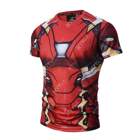 Iron Man Workout Compression T Shirts (MARK 46 from 2016: Civil War)