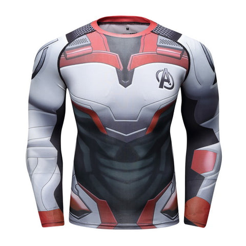Quantum Realm Cosplay Training Compression Long Sleeves for Men Fitness 01