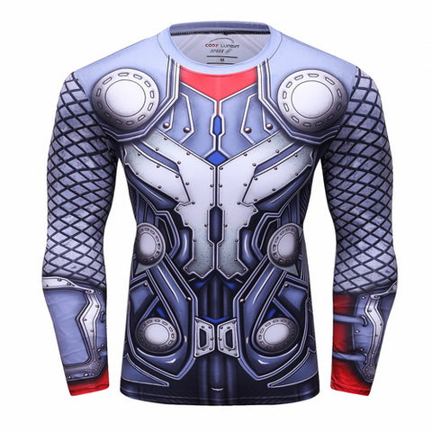 Thor Cosplay Training Compression Long Sleeves for Men Fitness 2