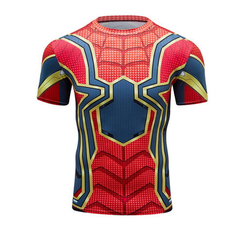 Spider-man Workout Compresson T Shirts for Men 1