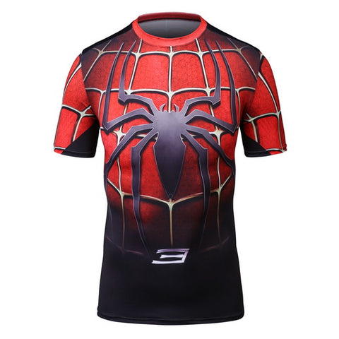 Spider-man Workout Compresson T Shirts for Men 6