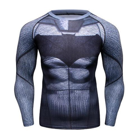 Batman Workout Compression Long Sleeves for Men 01