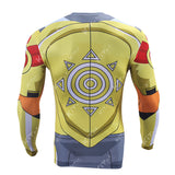 WarGreymon Cosplay Training Compression Long Sleeves for Men Fitness