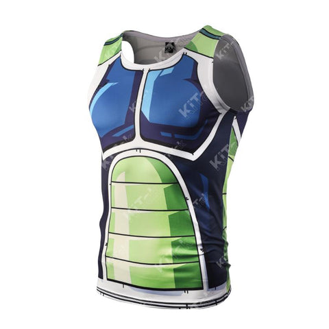 Bardock Cosplay Training Compression Tank Tops for Men Fitness - Cosplay Fitness | KiTak