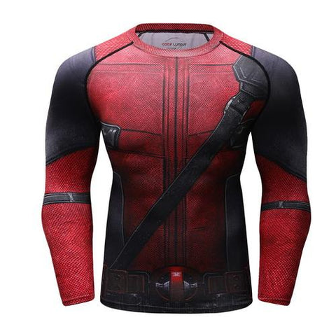 Deadpool Workout Compression Long Sleeves for Men 01