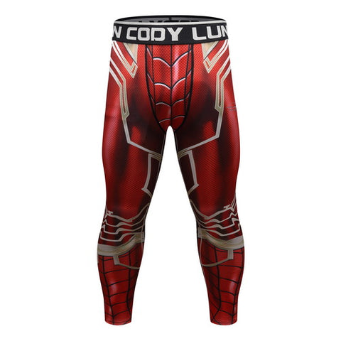 Spider-Man Workout Compression Leggings for Men 4