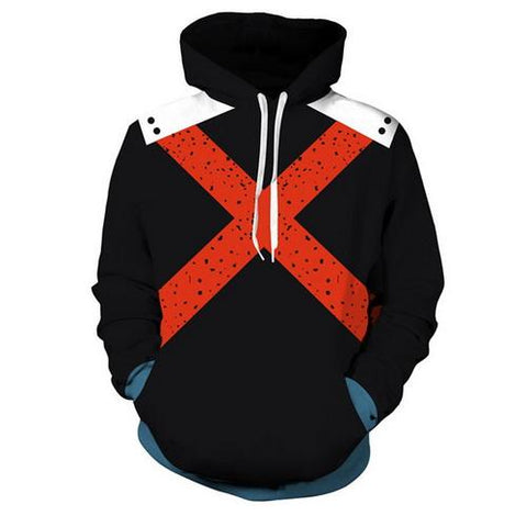 Bakugou Training Warm Up Pullover Hoodies - Unisex Fitness - Cosplay Fitness | KiTak