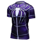 Spider-man Cosplay Training Compresson T-Shirts for Men Fitness 7