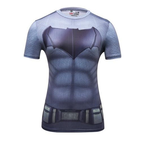 Batman Cosplay Training Compression T-Shirts for Women Fitness(2006 Justice League) - Cosplay Fitness | KiTak