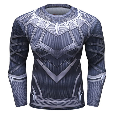 Black Panther Workout Compression Long Sleeves for Men 1