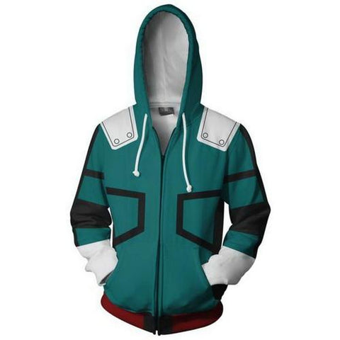 Deku Training Warm Up Full Zip Hoodies - Unisex Fitness - Cosplay Fitness | KiTak