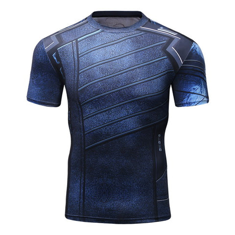 Winter Soldier Cosplay Training Compression T-Shirts for Men Fitness 2