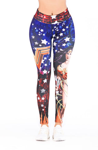 Wonder Woman Cosplay Training Compression Leggings for Women Fitness 10