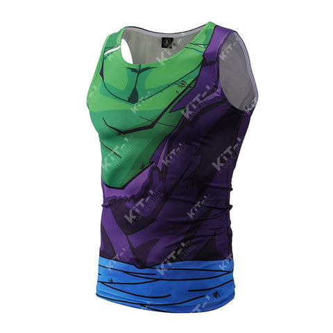 Battle Damaged Piccolo Workout Compression Tank Tops