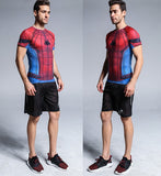 Spider-Man Cosplay Training Compression T-Shirts for Men Fitness 05(2017: Homecoming)