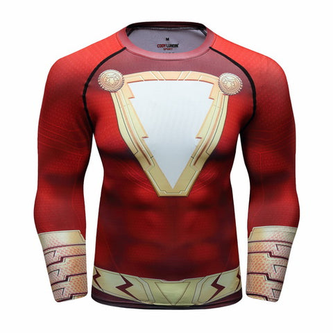Shazam Workout Compression Long Sleeves for Men 01