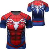 Spider-Man Cosplay Training Compression T-Shirts for Men Fitness 06(PS4: ADVANCED SUIT)