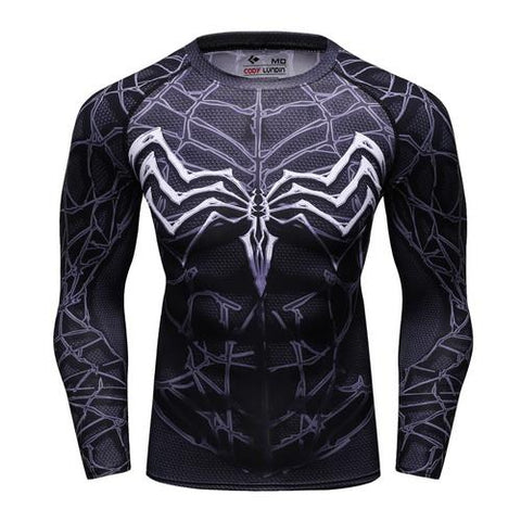 Venom Cosplay Training Compression Long Sleeves for Men Fitness 02 - Cosplay Fitness | KiTak
