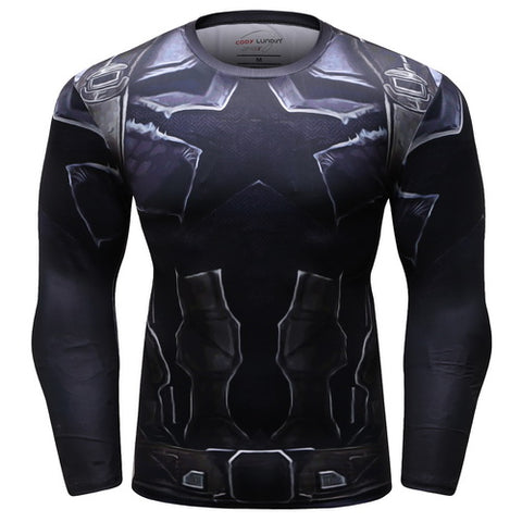 Captain America Workout Compression Long Sleeves for Men 5