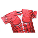 Colossal Titan Workout Compression T Shirts for Men (Attack on Titan)
