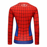 Spider-Man Cosplay Training Compression Long Sleeves for Women Fitness(2007 Spider-Man 3)