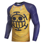 Trafalgar Law Cosplay Training Compression Long Sleeves for Men Fitness
