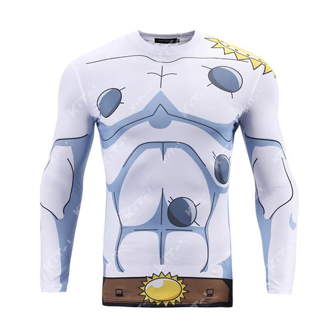 Angemon Cosplay Training Compression Long Sleeves for Men Fitness - Cosplay Fitness | KiTak