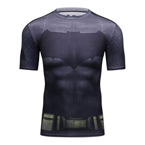 Batman Cosplay Training Compression T-Shirts for Men Fitness 2 - Cosplay Fitness | KiTak